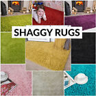 X SMALL MEDIUM SIZE THICK PLAIN SOFT SHAGGY RUG NON SHED 5cm PILE MODERN RUGS