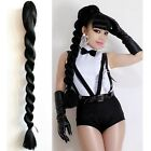 75cm Long Colorful Braided Hand Weave Ponytail Claw Clip In on Hair Extension
