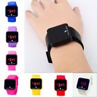 Hot Fashion LED Lamp Digital Touch Wristwatch Silicone Date Unisex Casual Watch