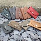 REAL Leather Coin Bag & Key holder | BUTTON & ZIP | Colours | FREE Shipping