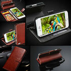 SAMSUNG GALAXY NOTE 4 5 CORE PRIME Wallet Flip Rich Leather Case Cover Pouch