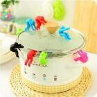 Creative Little Man Pot Spill-proof Heat Resistant Lid Holder Kitchen Tool LJ