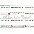 16mm Polyester Grosgrain Label Ribbons - Choose Design and Length Free Postage