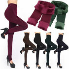 1X Women's Winter Thick Warm Fleece Lined Thermal Solid Stretchy Leggings Pants