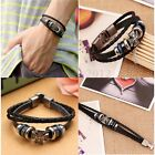 Fashion Jewelry Leather Cute Wrap Wristband Cuff Punk Buckle Charm Bracelet Gift