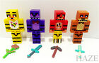 4pcs Five Nights at Freddy's Chica Bonnie Bear Foxy Minifigures Toy blocks SY*