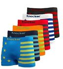 3, 6, 12 Mens Microfiber Boxer Briefs Underwear Seamless Compression Knocker Lot