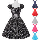 VINTAGE FIFTIES RETRO SWING DRESS 60's 1950's PIN UP PROM PARTY DRESS
