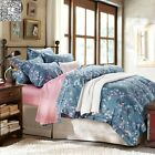 Queen King Size Bed New Long-Staple Cotton Floral Duvet/Doona/Quilt Cover Set