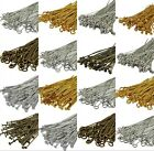 100pcs Silver/Gold Plated Ball Head Eye Pins Jewelry Finding 20/30/40/50/60/70mm