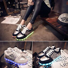 Unisex LED Light Lace Up Shoes Camouflage Casual 7 Color Flash Luminous Sneakers