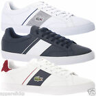 Lacoste Men's Fairlead Sports Casual Leather Textile Low Top Trainers Shoes