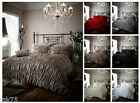 Designer Ruched Duvet Cover Set With Pillow Cases, Luxury Bed Linen Quilt Sets