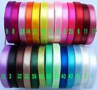"3/8""9mm Single Face Satin Ribbon 5 Yard 50 Yard 100 Yard 26 Colors Craft SewDIY"