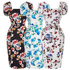 New 50s Vintage Pinup Retro Party Wiggle Floral Pencil Pinup Dress BP