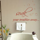 Quotes Lettering Bathroom Wall Stickers/wall Decals