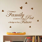 Family a Link to The Past Heart Love Hope Art Quote Wall Stickers wall Decals