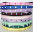 "3/8"" 9mm Mixed Basic Polka Dots Grosgrain Ribbon 5 Yard 25 Yard 100 Yard Craft"