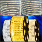 220V 110V 5050 LED Strip Waterproof Flexible Christmas Light Warm White Blue Red