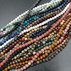 "Natural Gemstone Round Spacer Loose Beads 4mm 15"" - 16"" Lot Pick Stone Jewelry"