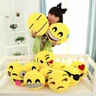 Round Yellow Soft Cushion Emoji Smiley Emoticon Stuffed Plush Toy Doll Pillow