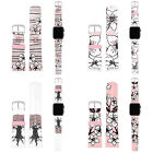 HEAD CASE CHERRY BLOSSOMS PINK SYNTHETIC LEATHER STRAP FOR APPLE WATCH & SPORT