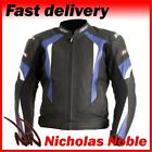 RST R-16 1068 Black Blue FULL GRAIN LEATHER STREET SPORTS MOTORCYCLE JACKET