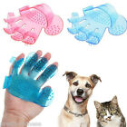 Soft Silicone Dog Pet Cat Animal Fur Groomer Grooming Glove Brush Hand Mit Mitt