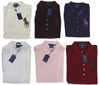 $198 Polo Ralph Lauren Womens Slim Skinny Big Pony Sequin Metallic Button Shirt