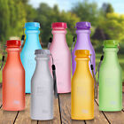 Portable Leak-proof Bike Sports Unbreakable Plastic Container Water Bottle 550ml