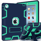 Hybrid Defender Armor Impact with Stand Hard & Soft Case Cover for Apple iPad