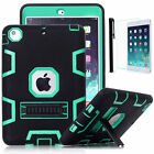 Shock Proof Heavy Duty Rubber Stand Case Cover For iPad Air 1/2 iPad Mini Pro