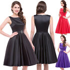 WOMEN VINTAGE FIFTIES 1950S SWING PINUP EVENING PARTY HOUSEWIFE DRESS