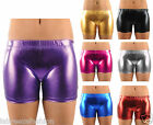 New Girls Shiny Metallic Hot Pant Shorts Dance Party Casual Shorts
