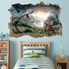 Dinosaurs Smashed Wall Decal Removable Graphic Wall Sticker Mural H185