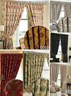 Luxury Curtains Ready Made Pencil Pleat & Matching Tiebacks Lined Heavy Weight
