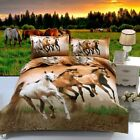 Horses Quilt/Duvet/Doona Cover Set Queen/Double/King Single Size Bed Animal New