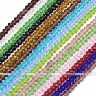 Strand 4*6mm Crystal Glass Faceted Rondelle Loose Beads For Jewelry Making DIY