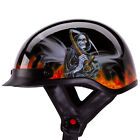 "IV2 ""REAPER"" Gloss Black Chopper Half Helmet 