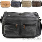 Ladies / Womens Leather Shoulder / Cross Body Bag with Multiple Features