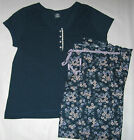 NWT Womens Plus Size 1X  Blue Pajamas Pjs Sleepwear Sets by Ambrielle NWT