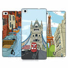 HEAD CASE DESIGNS DOODLE CITIES SERIES 2 HARD BACK CASE FOR HUAWEI PHONES 1