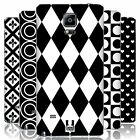 HEAD CASE DESIGNS BLACK AND WHITE PATTERNS BATTERY COVER FOR SAMSUNG PHONES 1