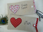 Personalised Heart Glasses Sunglasses Case Choice of colour & wording Valentines