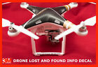 Drone Lost and Found Decal DJI Phantom Typhoon YUNEEC FAA Compliant UAV COLORS