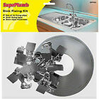 SupaPlumb Kitchen Sink Clips Fixing Kit 10 Clips 3m Sealing Tape MULTI-LISTING