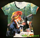 RENOIR Luncheon Boating Party Girl Kiss Dog T SHIRT FINE ART PRINT PAINTING