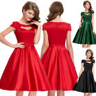 Womens Vintage Style 1940s 1950s Retro Casual Swing Prom Party Dress