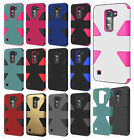 For LG K7 / Tribute 5 IMPACT TUFF HYBRID Protector Case Skin Phone Covers