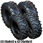 %284%29+ATV+Four+Wheeler+Front+Rear+Tires+Set+%282%29+25x10%2D12+%26+%282%29+25x8%2D12+6+Ply+Tire